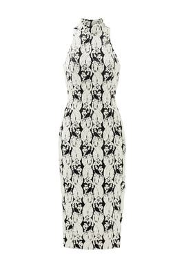 Black and White Lotus Dress by Cushnie Et Ochs