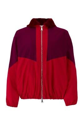 Colorblock Hoodie Jacket by Giamba
