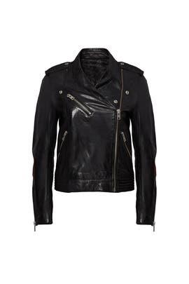 Leather Loon Spi Jacket by Zadig & Voltaire