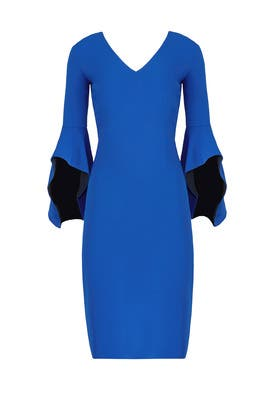 Cobalt Flare Dress by Badgley Mischka