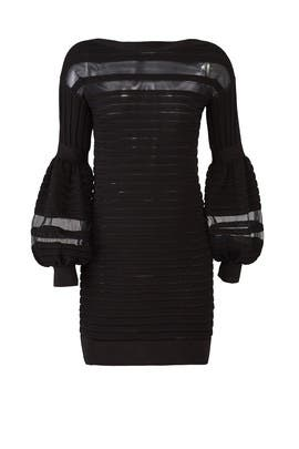 Black Panel Knit Dress by Emanuel Ungaro