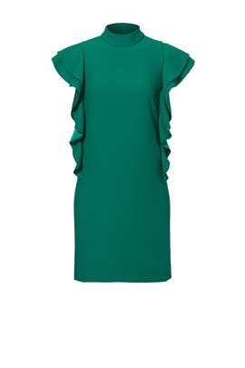 Green Flutter Sleeve Dress by kate spade new york