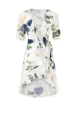 Blue Rose Wrap Dress by Nicholas