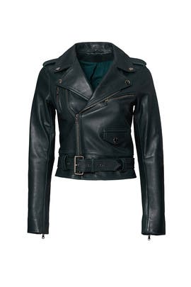 Green Cooper Leather Jacket by Parker