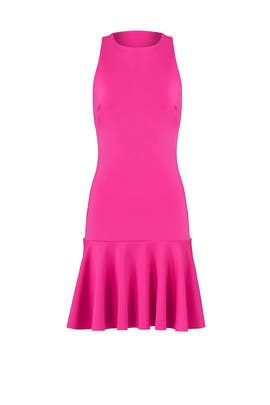 Pink Fantastic Ruffle Dress by Trina Turk