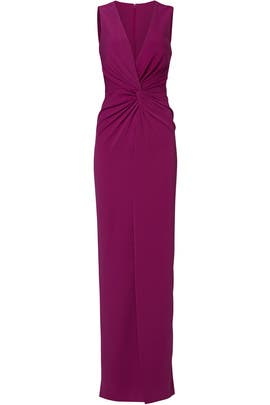 Orchid Twist Front Gown by Badgley Mischka