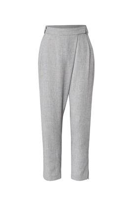 Grey Wrap Front Pants by Halston Heritage