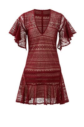 Maroon Cybil Dress by Marissa Webb