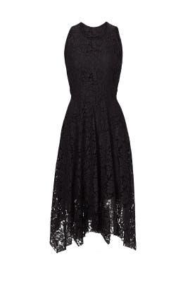 Black Lace Handkerchief Hem Dress by Rebecca Minkoff