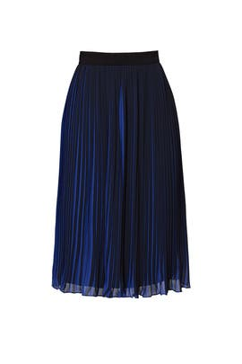 Black and Blue Pleated Skirt by Waverly Grey