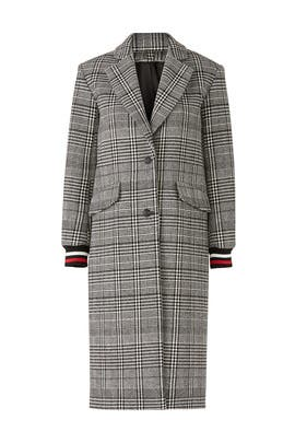 Windowpane Lou Coat by ba&sh