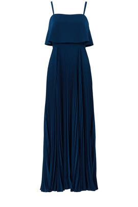 Blue Pleated Gown by Jill Jill Stuart