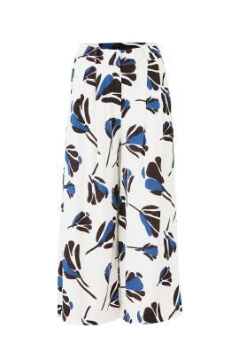 Blue Floral Printed Pants by Jason Wu Grey