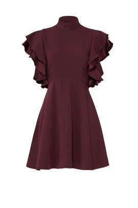 Plum Ruffle Dress by Cinq à Sept