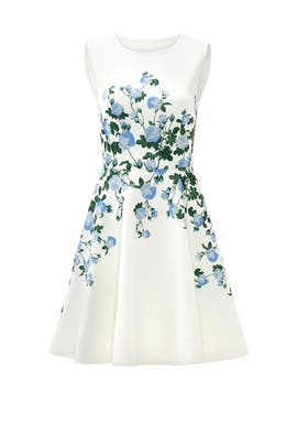 White Floral Suzie Dress by ERIN erin fetherston