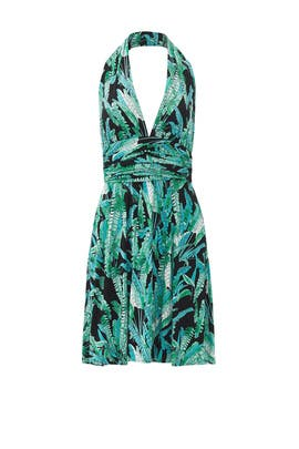Palm Print Halter Dress by Issa