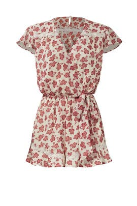 TULAROSA Red Ashby Romper