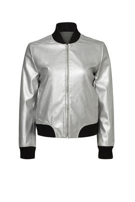 Silver Shell Bomber Jacket by BB Dakota