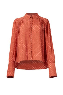 Terracotta Kennedy Blouse by Free People
