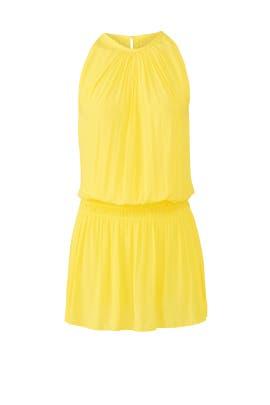 Yellow Paris Sleeveless Dress by Ramy Brook