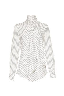 Striped Ascot Tie Blouse by See by Chloe