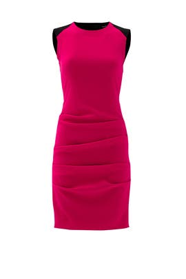 Pink Ripple Ruche Dress by Cut 25