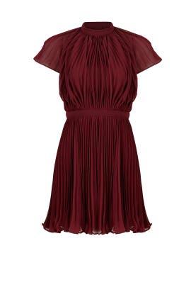 Burgundy Come Back Dress by Keepsake