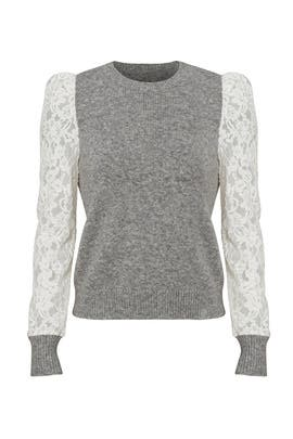 Grey Lace Sweater by Rebecca Taylor