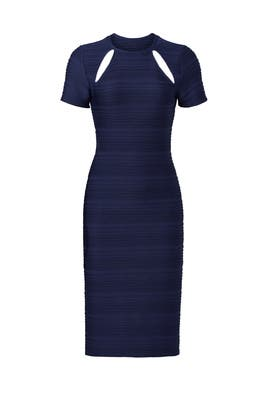 Navy Franco Cut Out Sheath by Shoshanna