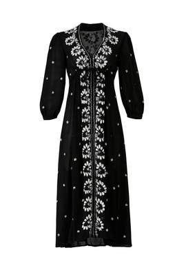 Black Embroidered Maxi by Free People