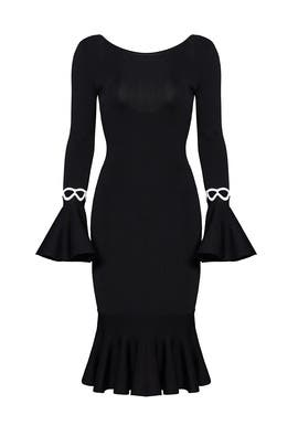 Black Fluted Belle Dress by Sachin & Babi