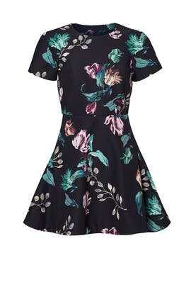 Dark Botanical Dress by STYLESTALKER