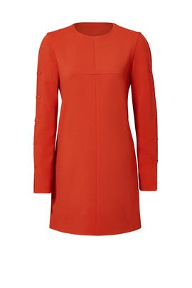 Paprika Button Dress by Tibi