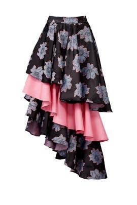 Floral Ruffle Skirt by Viva Aviva