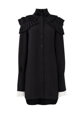 Black Ruffle Shirtdress by ADEAM