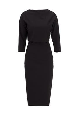 Black French Collar Sheath by Badgley Mischka