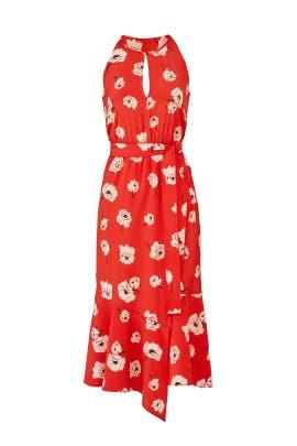 Clay Red Faux Wrap Dress by Derek Lam 10 Crosby