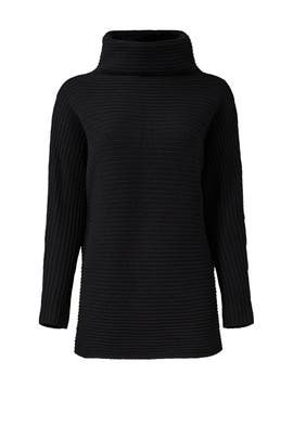 Black Mock Sweater by Halston Heritage