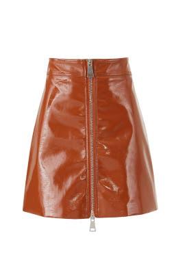 Penelope Pleather Skirt by Ronny Kobo