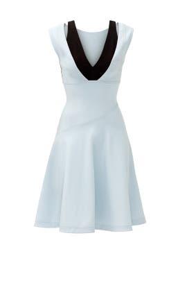 Blue Swirl Dress by Yigal Azrouël