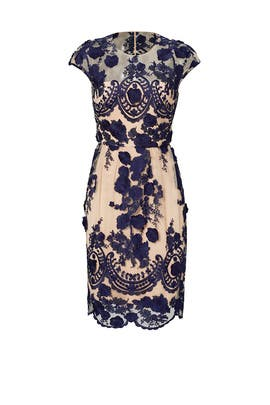 Navy Mena Dress by Marchesa Notte