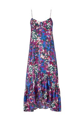 Floral Ruffled Midi Dress by SALONI