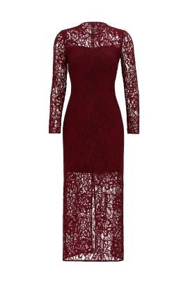Merlot Red Lace Sheath by Cynthia Rowley