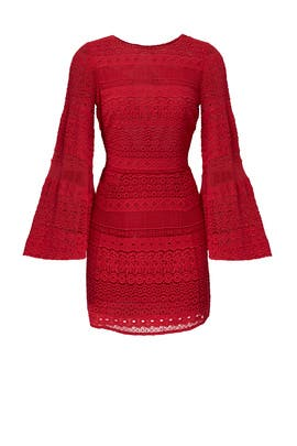Red Grin Dress by Rebecca Minkoff