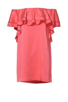 Peony Ruffle Off Shoulder Shift by Rachel Zoe