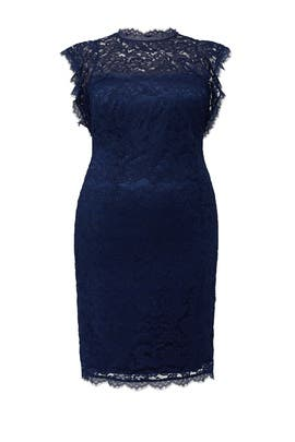 Navy Lace Sheath Dress by Adrianna Papell