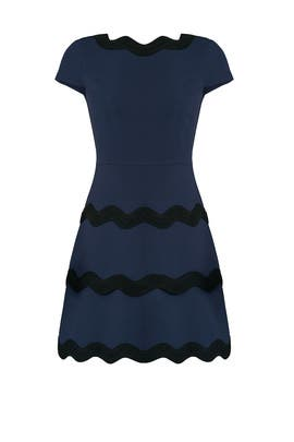 Blue Ric Rac Dress by Sail to Sable