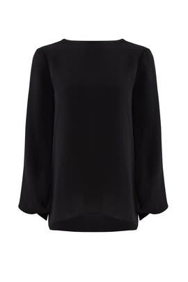 Tie Back Georgette Top by Halston Heritage