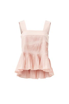 Blush Flamenco Poplin Alexa Top by Tibi