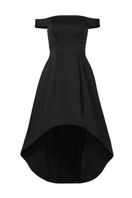 Black Bonded Dress by Cynthia Rowley